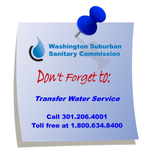 Blue WSSC Dont forget to transfer water